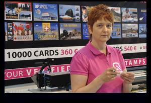 Hambeurs: ON2UR op de stand van ON5UR QSL Printing op Ham Radio