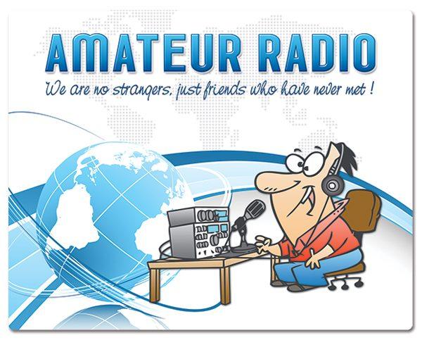 Radio Amateur muismatjes: PVC toplaag, extra dun (2mm) antislip onderkant. Bestel ref: MP005.