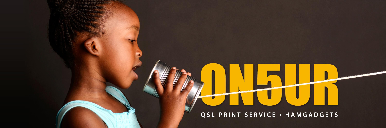 ON5UR QSL Printing - QSL cards - QSL kaarten - Ham Gadgets - Radio amateur gadgets