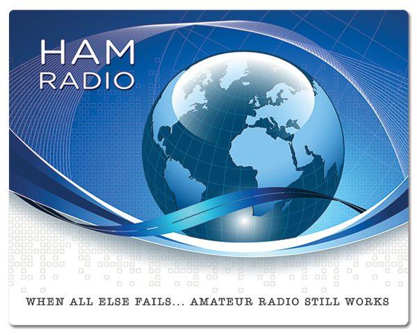 Radio Amateur muismatjes: PVC toplaag, extra dun (2mm) antislip onderkant. Bestel ref: MP003.